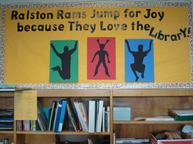 Ralston Rams Jump for Joy Becasue they love the library